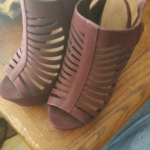 Charlotte Rouse burgundy heels